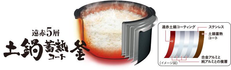 遠赤5層土鍋蓄熱コート釜